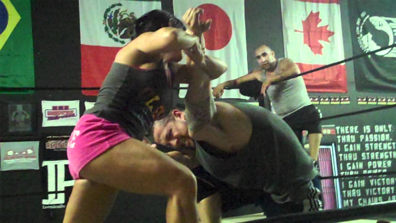 Women Training Pro Wrestling vs Guy