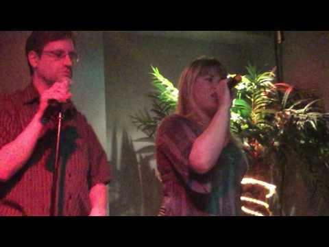 "Beven and Jim P performing Boney M.'s ""Rasputin"" at karaoke"
