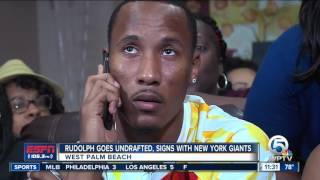 <b>Travis Rudolph</b> goes undrafted after father's death, signs with Giants ...