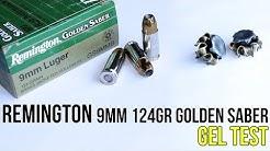 Remington 9mm 124gr Golden Saber Gel Test and Review