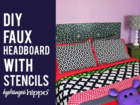 Diy Faux Headboard With Stencils And Spray Paint Youtube