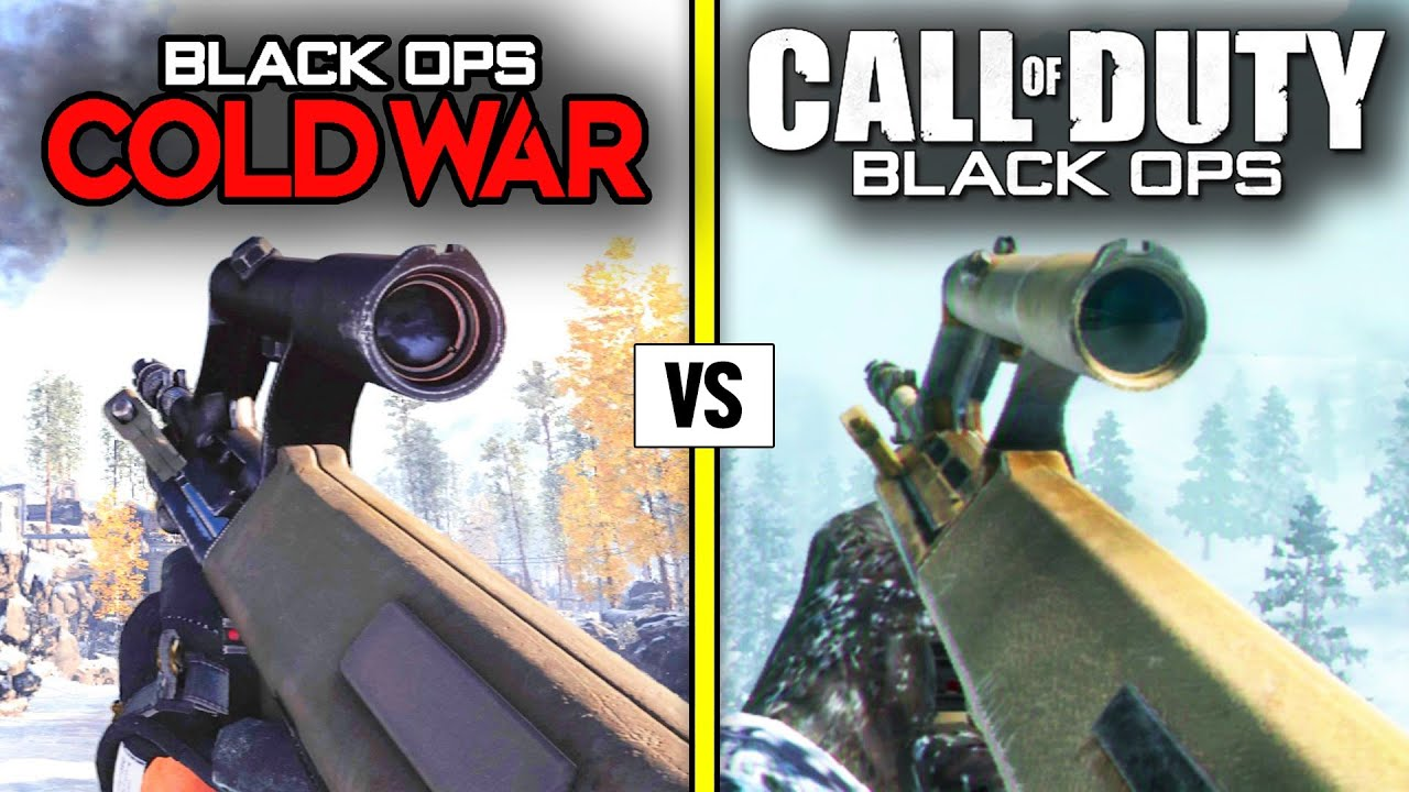 Call of Duty COLD WAR 2020 vs BLACK OPS 1 — Weapons Comparison