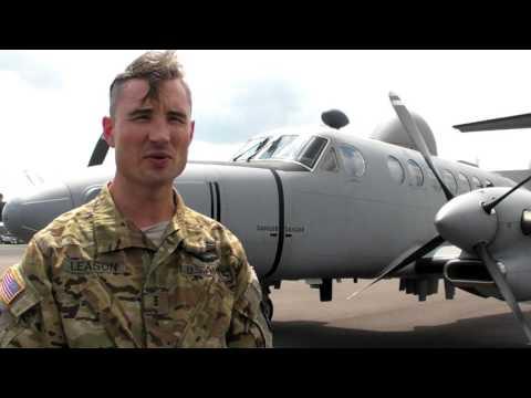 Army MC 12S Reconnaissance Aircraft