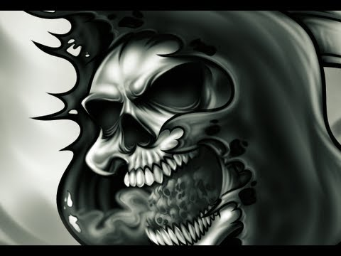 drawing a grim reaper drawing and painting a grim reaper skull tattoo step by step