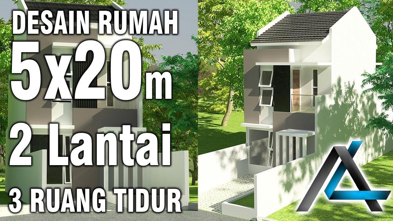 Desain Rumah 5x20 M 2 Lantai Youtube
