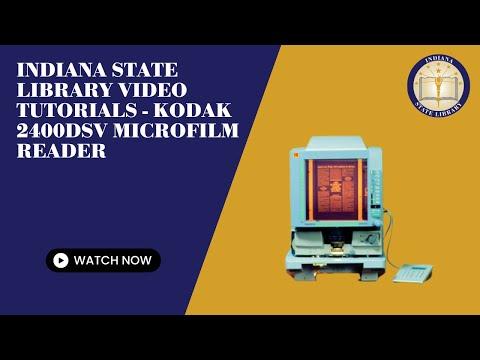 Indiana State Library Video Tutorials - Kodak 2400DSV Microfilm Reader