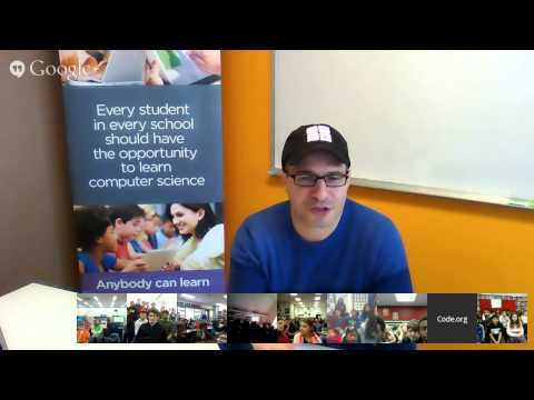 Hour of Code Video Chat with Hadi Partovi