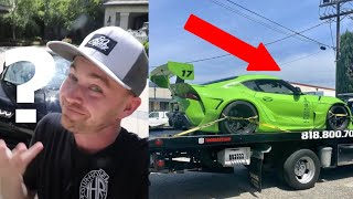 Stradman JUST CONFIRMED BUGATTI For…!? WE FOUND DDE 's WRECKED SUPRA?! COPS TEXT WHISTLINDIESEL!?