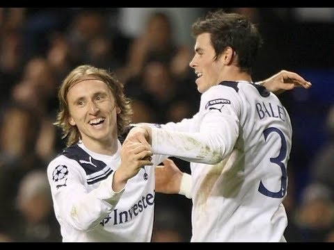 cb5da5225 Luka Modric First and Last Goals for Tottenham Hotspur - YouTube