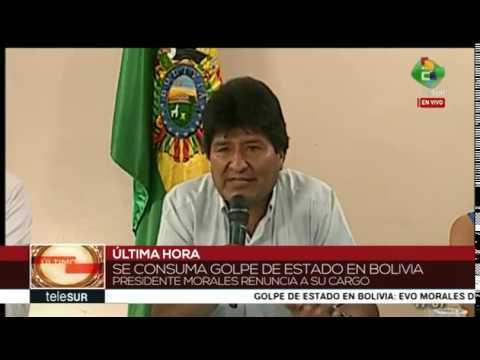 Evo Morales anuncia su renuncia a la Presidencia de Bolivia