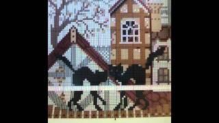 Вышивка крестом:обзор набора: коты на крыше