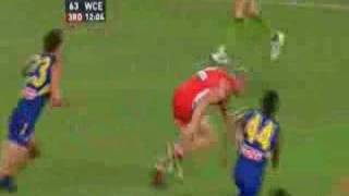 Barry Hall never gets penalised for holding the ball