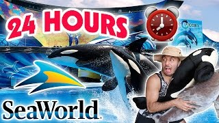 (SCARY) 24 HOUR OVERNIGHT in SEAWORLD FORT ⏰  | OVERNIGHT CHALLENGE AT SEAWORLD SNEAKING BY SECURITY