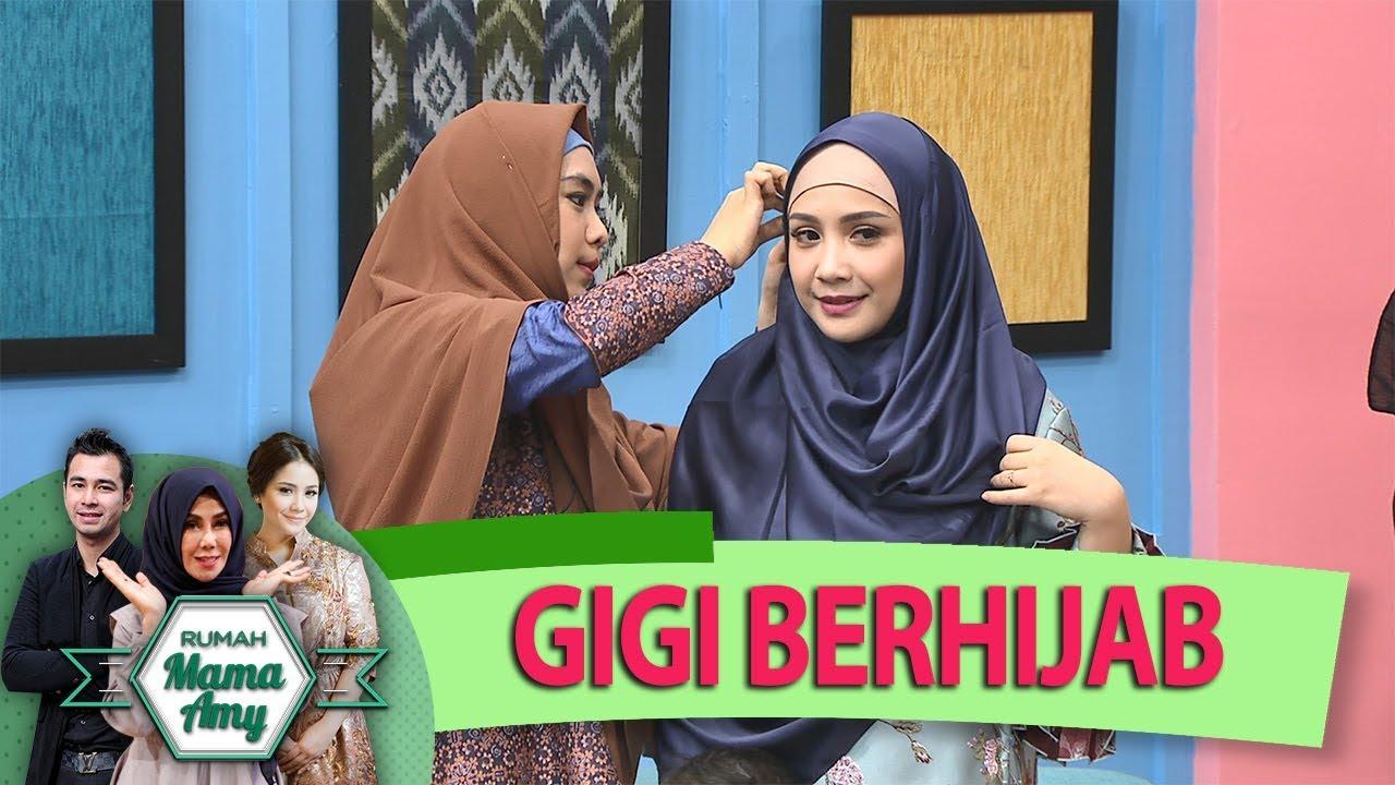 subhanallah gigi cantik bgt, ketika belajar mengenakan hijab bersama