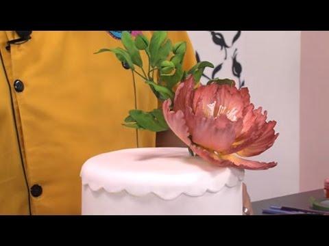 como-decorar-con-una-peonia-oriental-gigante-un-pastel---hogar-tv-por-juan-gonzalo-angel