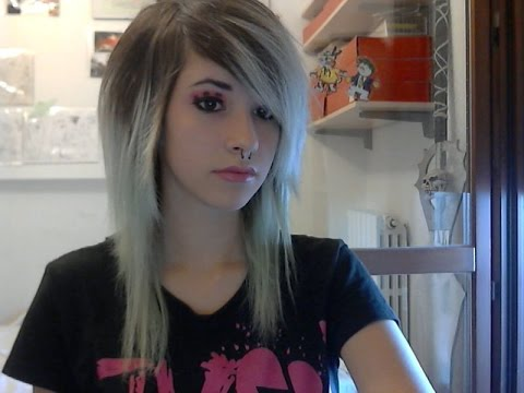 easy emo-scene make and hair