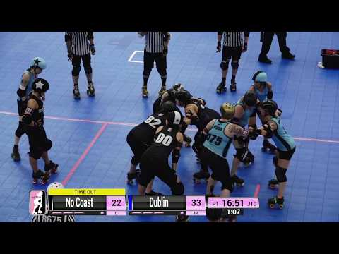 WFTDA Roller Derby - Division 2, Pittsburgh - Game 9 - Dublin vs. No Coast