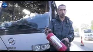 إحتراق حافلة لنقل المسافرين قادمة من الشلف إلى العاصمة عند مدخل بئر خادم