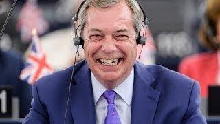 NIGEL FARAGE EPIC SPEECH EUROPE BEHAVING LIKE MAFIA OVER BREXIT.. Euro Leaders Not Happy