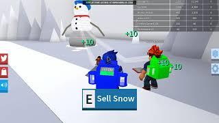 Roblox cunlt4 THROUGH US MADE SNOW EXCAVATOR (Code)-Snow Shoveling Simulator | Phan 2