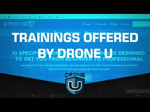 Learn How To Fly A Drone. Trainings offered by Drone U the Only Drone School With Experienced Pilots