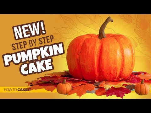 How To Make An EASY Buttercream Pumpkin Cake by Ebuka U | How To Cake It Step By Step