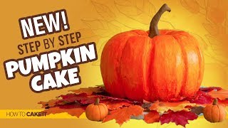 how to carve pumpkin out of cake
