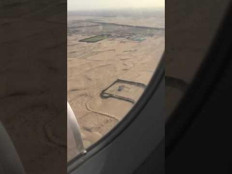 Flight landing Sharjah airport