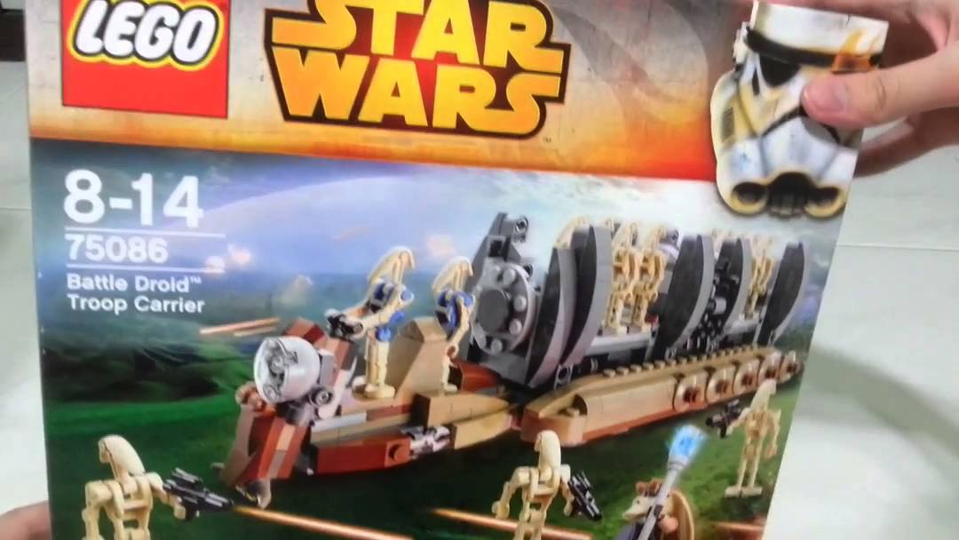 Lego Star Wars Battle Droid Troop Carrier Unboxing - YouTube