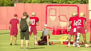 Florida State Seminoles football raw practice footage, 8/20 (no audio)
