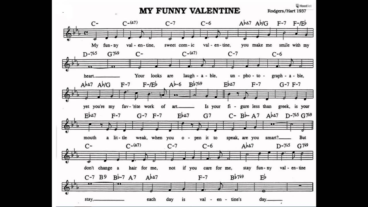 My Funny Valentine Backing Track Play Along Youtube