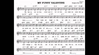 My funny Valentine backing track play along