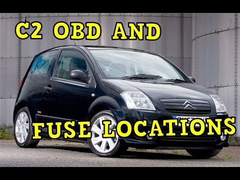 Citroen C2 OBD and Fuse Locations - YouTube | Citroen C2 Fuse Box Diagram |  | YouTube