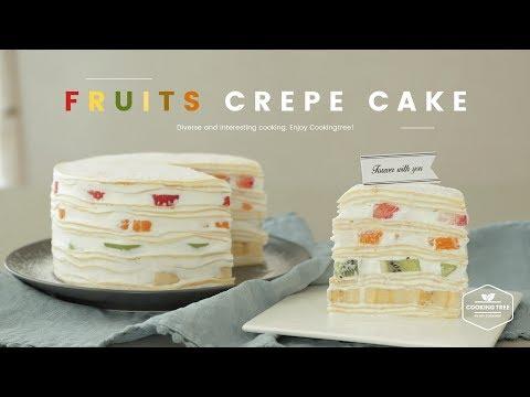 🍊생과일 크레이프 케이크 만들기🍌 : Fruits Crepe Cake Recipe - Cooking tree 쿠킹트리*Cooking ASMR