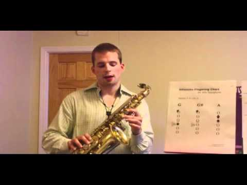 Alto Sax Altissimo Register Fingering Chart