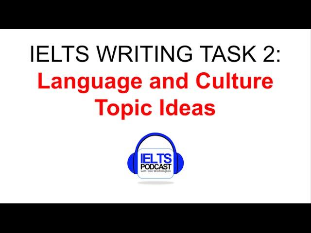 Language & culture essay?