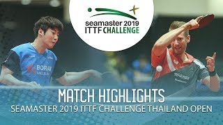 Seo Hyundeok vs Ruwen Filus | 2019 ITTF Challenge Thailand Open (Final)