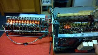 Anita MK12 vintage nixie calculator, entering numbers
