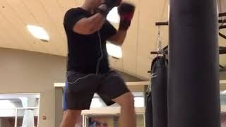 Power shots heavy bag workout. Livingmuaythai