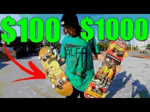 SKATE DE R$100 VS R$1000