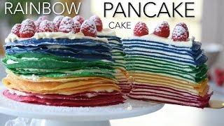 Rainbow Pancake Cake