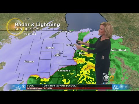 Winter Storm Hits Chicago Area