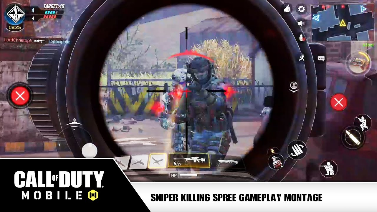 Call Of Duty Mobile Gameplay Dlq33 Sniper Montage Compilation