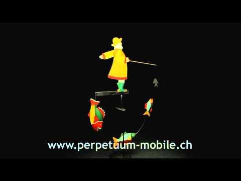 Pendelfigur Fischer / Fisherman Balancing Toy