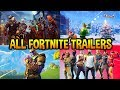 ALL 30 FORTNITE BATTLE ROYALE TRAILERS IN ORDER..! (Halloween, Christmas, Season1...)