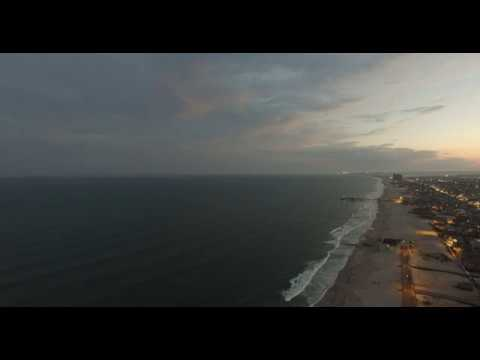 DJI Phantom 3 Professional Atlantic City, New Jersey Beach June 2017 4KCinema