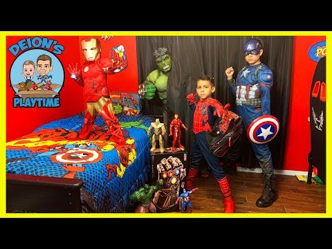 Spider-Man Hide and Seek with Avengers   Deion's Playtime