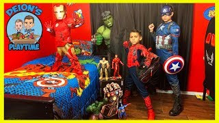 Spider-Man Hide and Seek with Avengers | Deion's Playtime