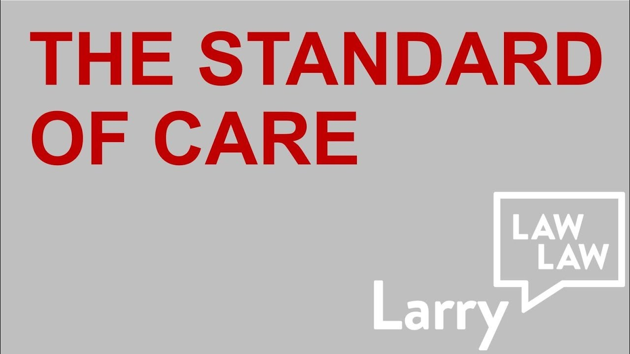 Law School Exam Tips: The Standard of Care | Torts | Negligence
