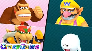 Super Mario Party Best Characters - Donkey Kong & Bowser vs Wario & Boo (S Rank) | CRAZYGAMINGHUB